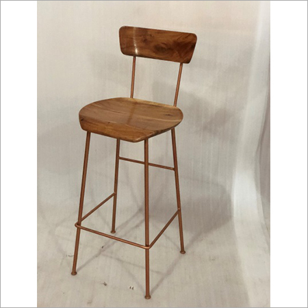 IRON & WOODEN BAR CHAIR