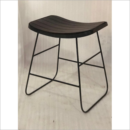 IRON & WOODEN STOOL
