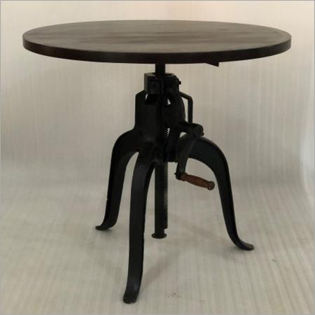 IRON & WOODEN ADJUSTABLE TABLE