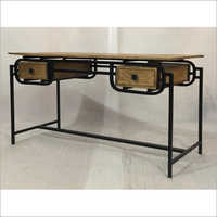 IRON & WOODEN WRITING TABLE