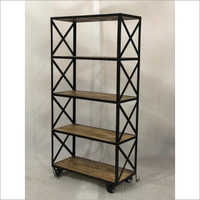 IRON & WOODEN BOOK SHELF