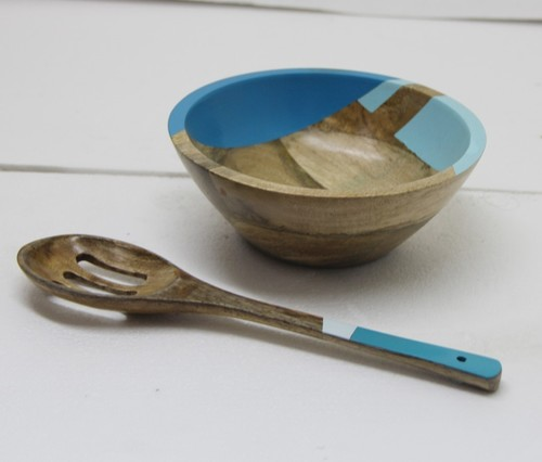 Mango Wood Bowl With Spoon