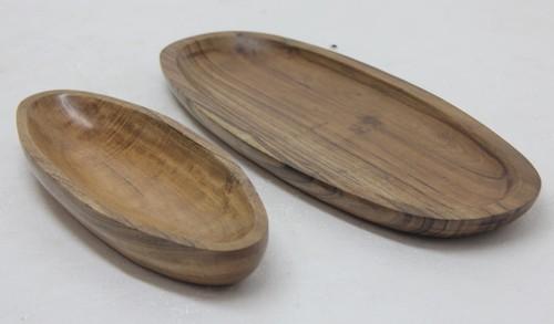 Boat Shaped Platter In Acacia Wood