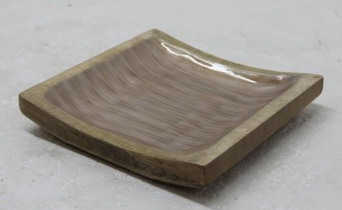 Mango Wood Platter With Enamel