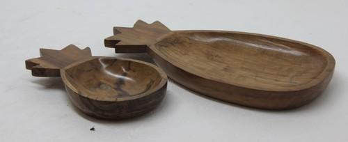 Pine Apple Platter In Acacia Wood (2)