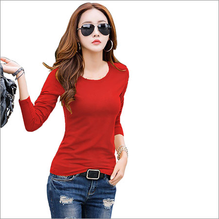 Ladies Full Sleeve Plain Top