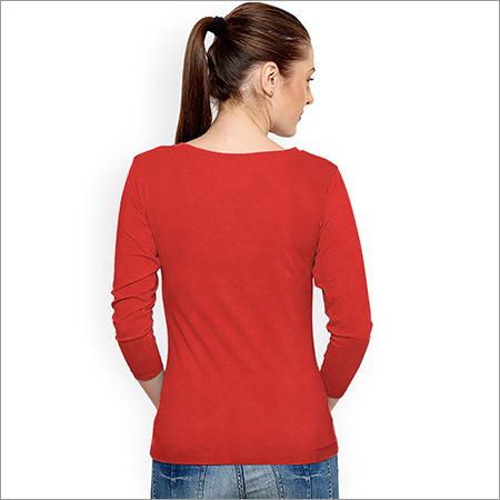 Ladies Full Sleeve Plain Top