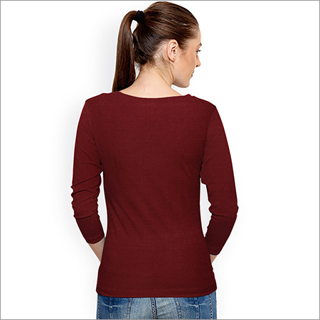 Ladies Plain Maroon Top