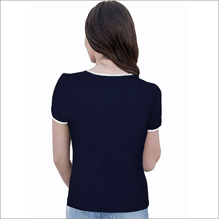Ladies Ruffle Neck Top