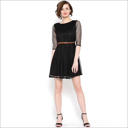 Ladies Netted One Piece Dress