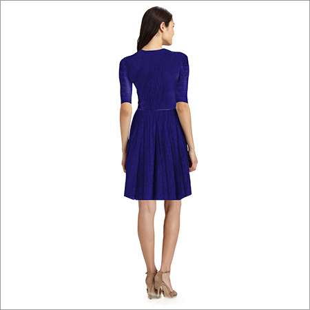 Ladies Plain Netted One Piece Dress