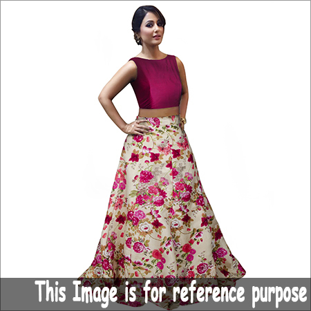 Ladies Crop Top Flora Skirt