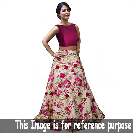 Ladies Crop Top Flora Skirt