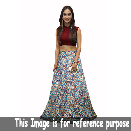 Ladies Printed Crop Top Skirt