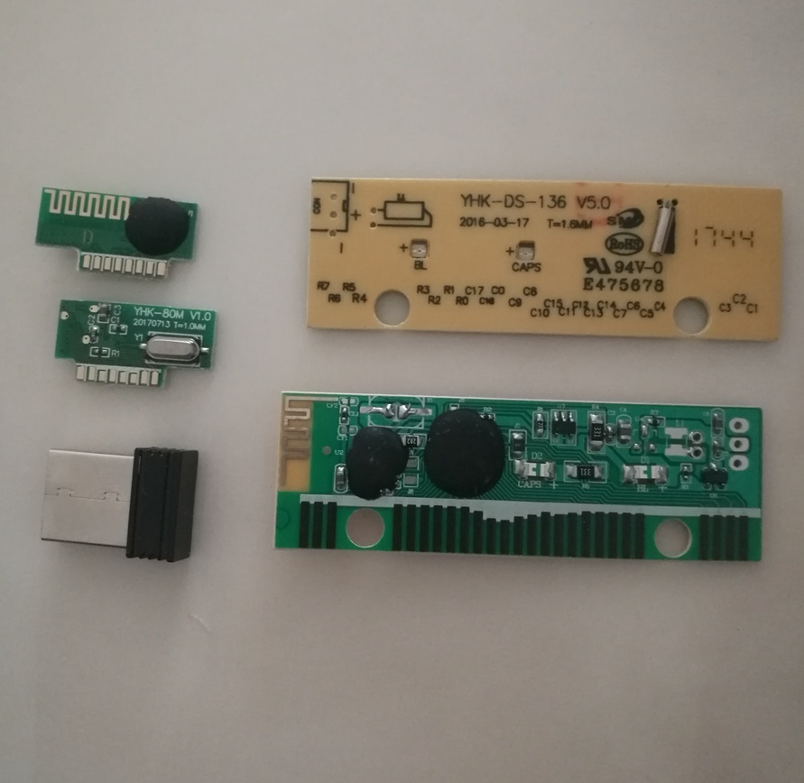 Wireless Mouse Rf Module And Wireless Keyboard Pcba Share Same Reciever Combo Set Green Color