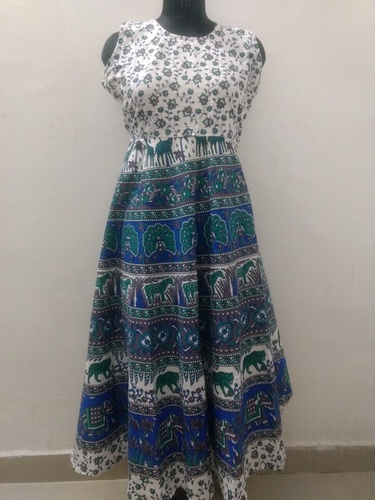 Jaipuri Print Long Dress