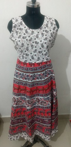 Cotton Short Jaipuri Midi Dress