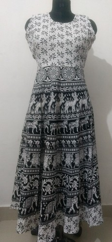 Cotton Printed Short Jaipuri Dress