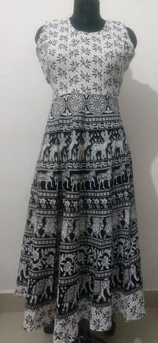 Cotton Printed Short Jaipuri Dress