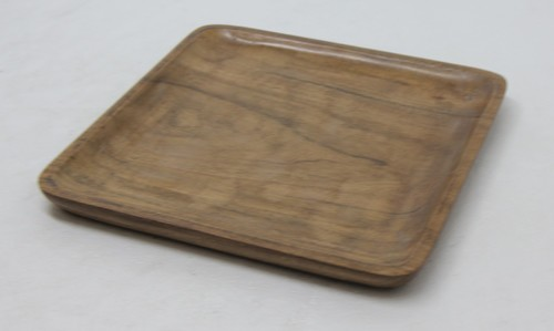 Square Platter In Acacia Wood