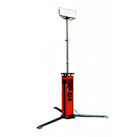 Portable led light tower with solar bank