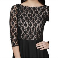 Ladies Netted Black Long Gown