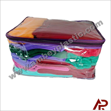 Plastic Transparent Wedding Saree Packing Bag