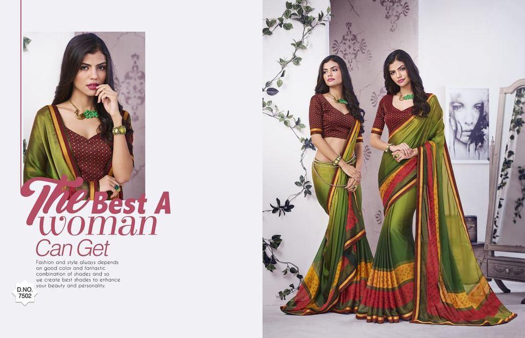 Designer Daily Wear Georgette Silk Saree