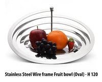 Ss Wire Frame Fruit Bowl (Oval)