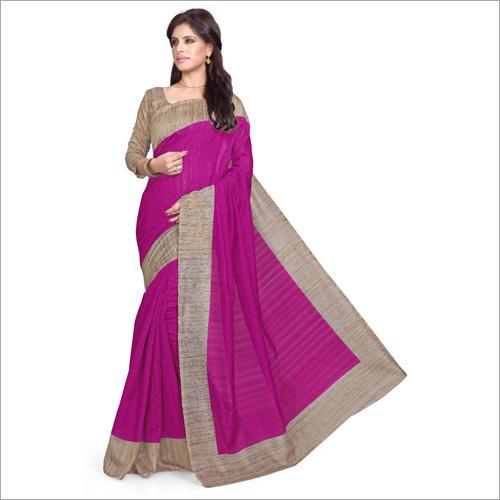 Ladies Bhagalpuri Pink Saree