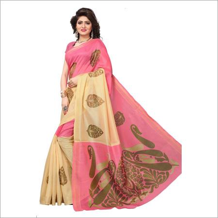 Womens Bhagalpuri Silk Saree