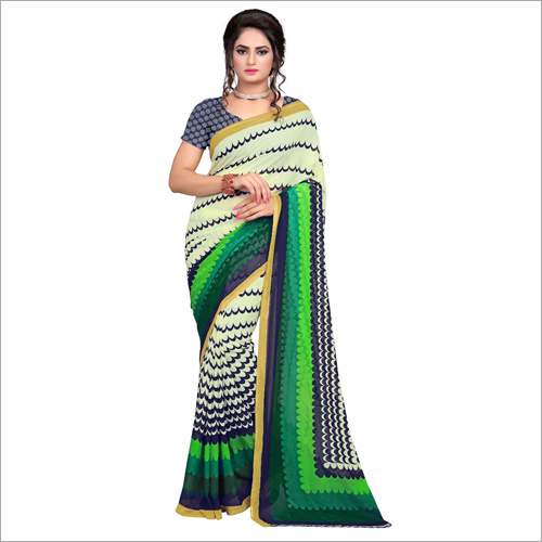 Ladies Ranial Green Saree