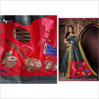 Ladies Raw Silk Fancy Saree