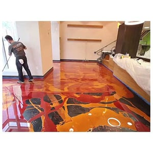 Epoxy Based Glossy Pigmented Floor Topping