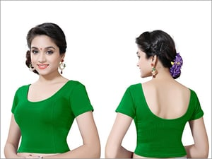 Ladies Parrot Green Readymade Blouse