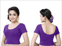 Ladies Purple Readymade Blouse