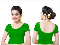 Ladies Parrot Green Color Fancy Blouses