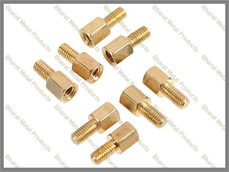 Brass hex spacers