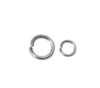 Silver Plated Open Jump Rings - Jewelry Findings Bead