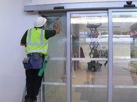 Glass Door Cleaning