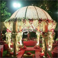 Grand Crystal Wedding Mandap