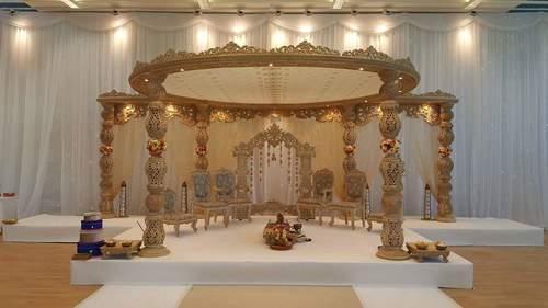 Designer Wood Wedding Mandap