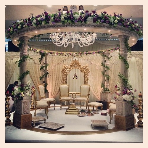 Indian Wood Wedding Mandap