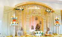 Double Pillar Wood Wedding Mandap
