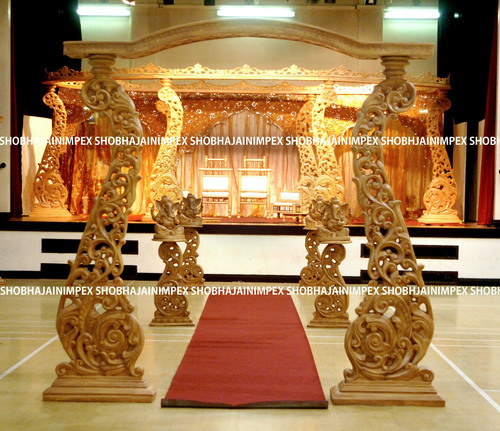 Peacock Wood Wedding Mandap