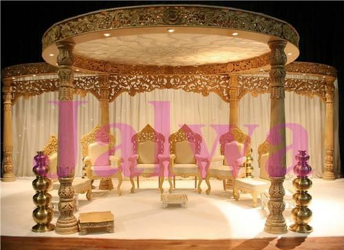Latest Wood Wedding Mandap