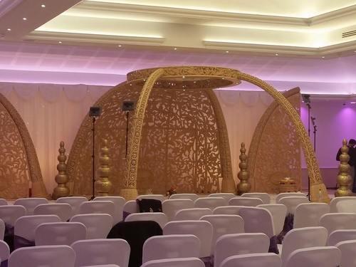 Jali Wood Wedding Mandap