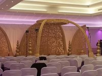 Jali Wood Wedding Mandap