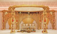Asian Wood Wedding Mandap