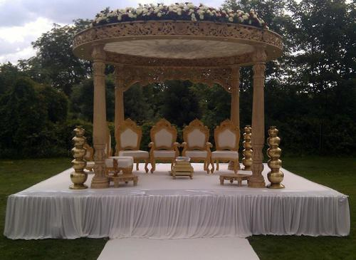 Wood Wedding Mandap